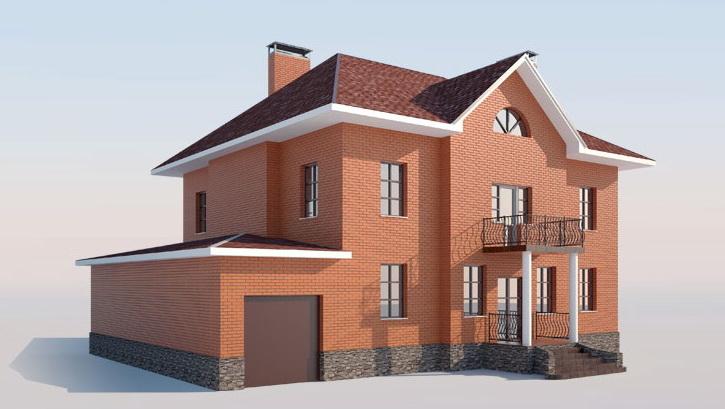 Фото отделки фасадов частных домов панелями под кирпич
