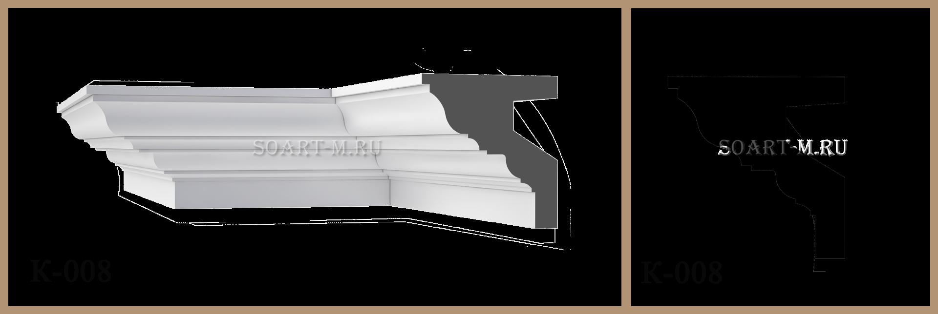 Карнизы из полимербетона