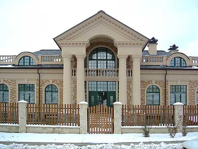 Фасадный декор из стеклофибробетона