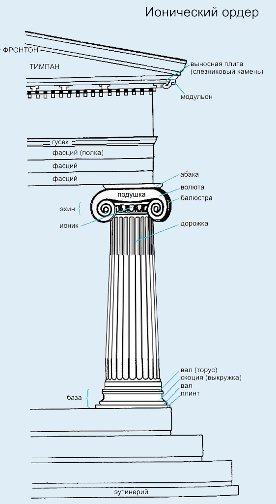 колонны ионического ордера